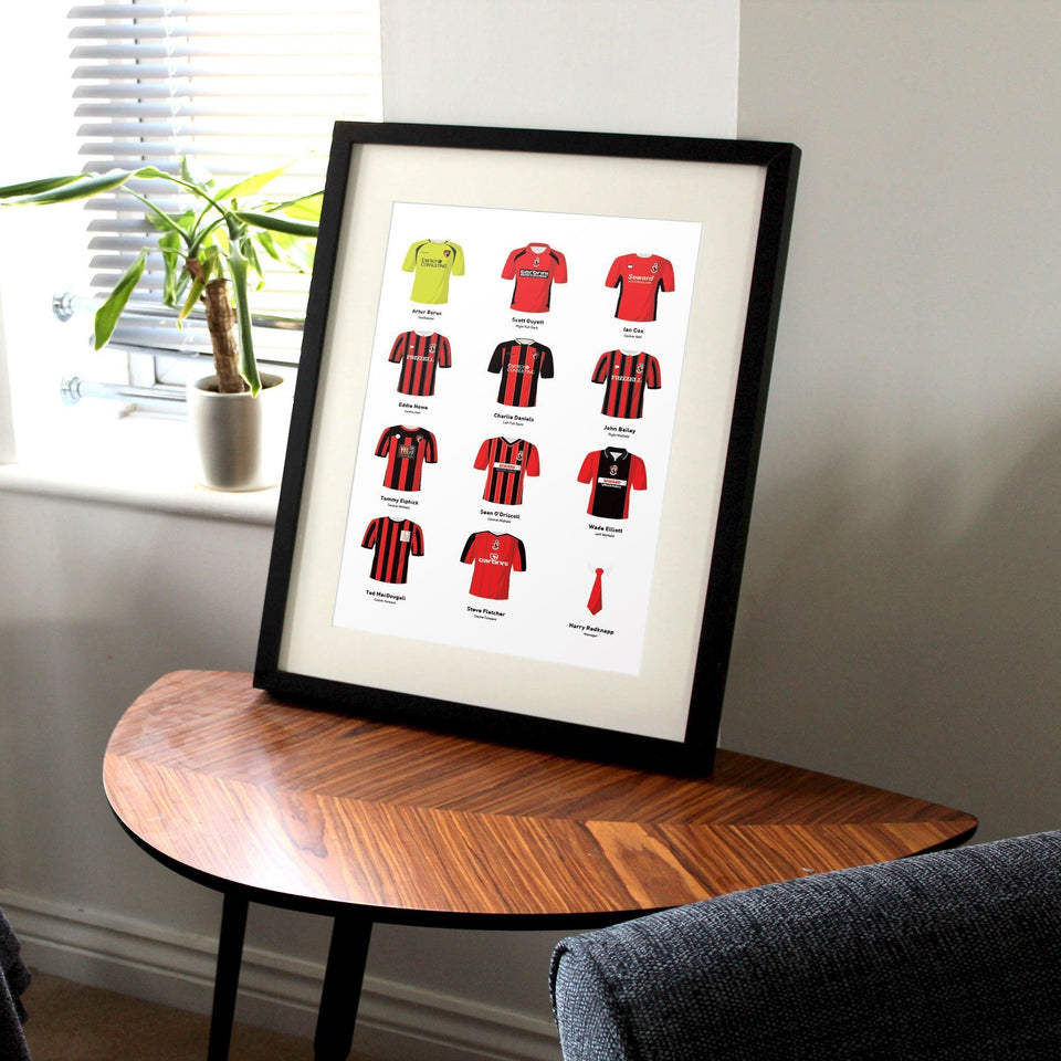 PERSONALISED Bournemouth Football Team Print