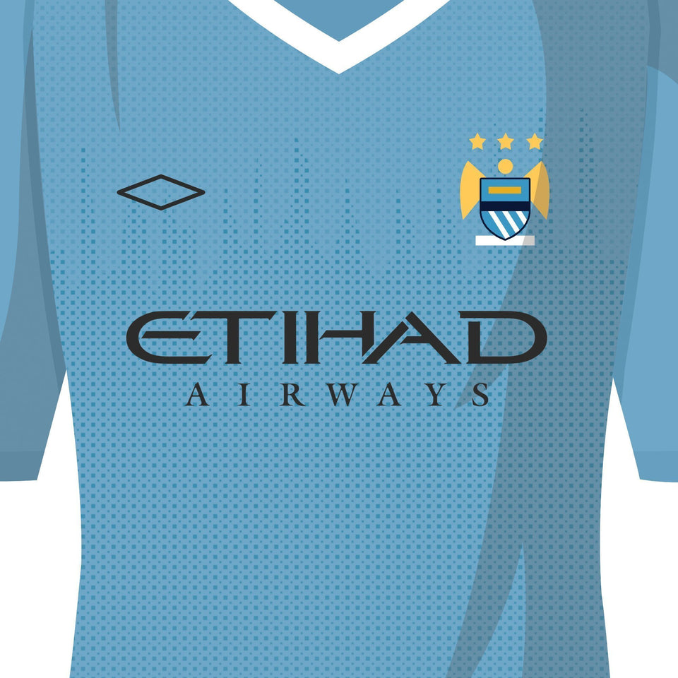 PERSONALISED City Football Team Print-Good Team On Paper