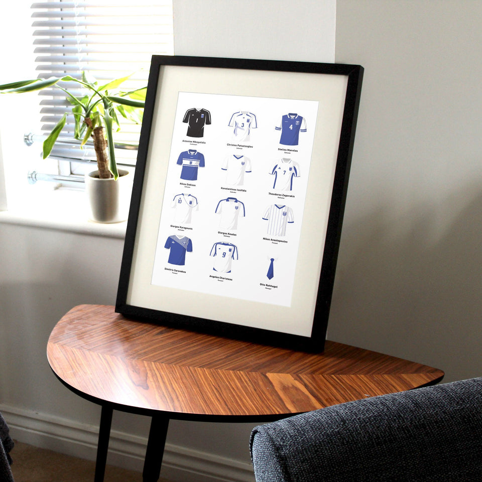PERSONALISED Greece Football Team Print - Good Team On Paper