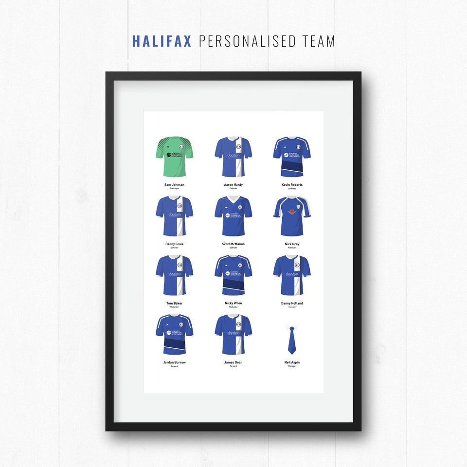 PERSONALISED Halifax Football Team Print