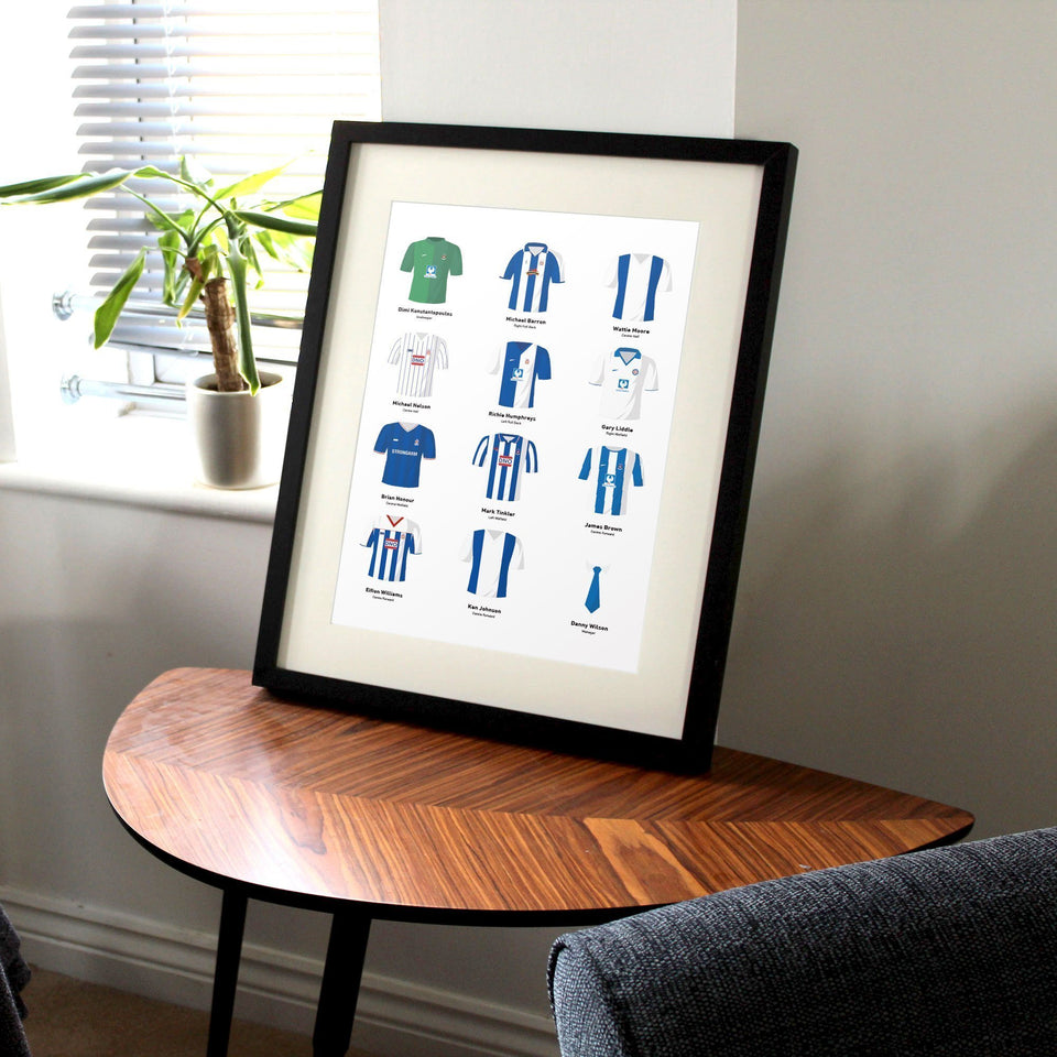 PERSONALISED Hartlepool Football Team Print-Good Team On Paper