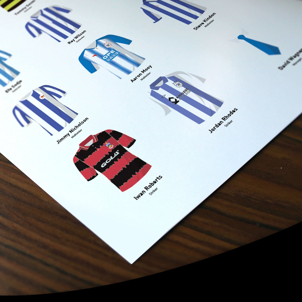 PERSONALISED Huddersfield Football Team Print - Good Team On Paper