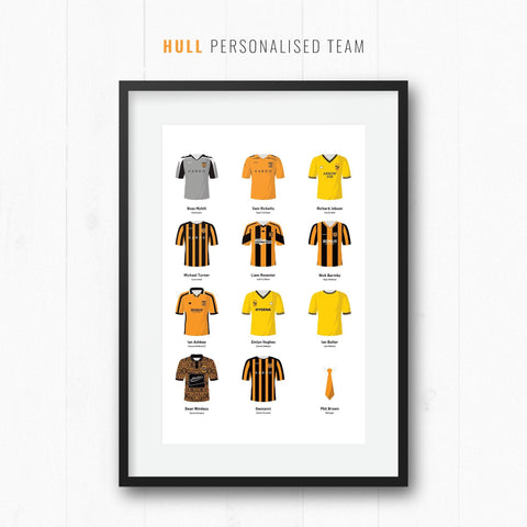 PERSONALISED Hull Football Team Print-Good Team On Paper