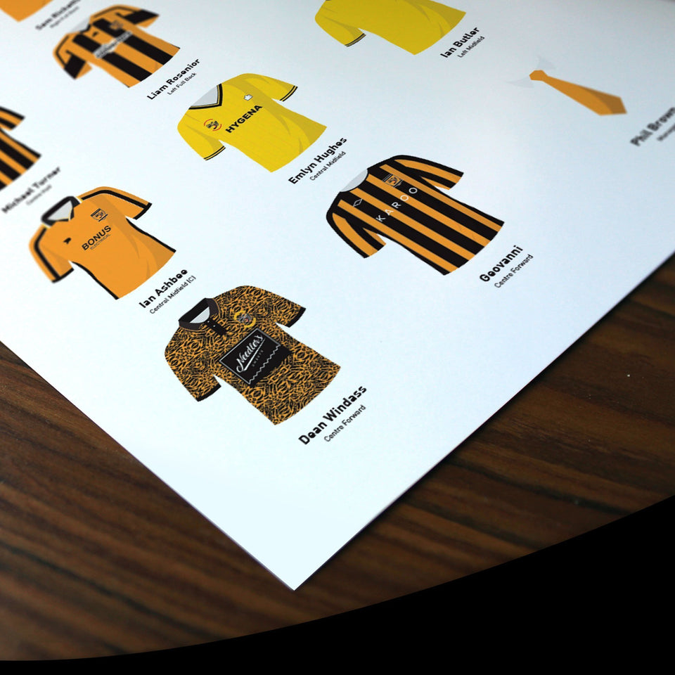 PERSONALISED Hull Football Team Print