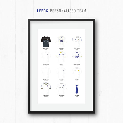 PERSONALISED Leeds Football Team Print-Good Team On Paper