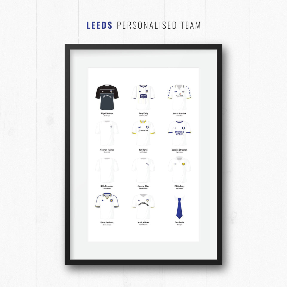 PERSONALISED Leeds Football Team Print