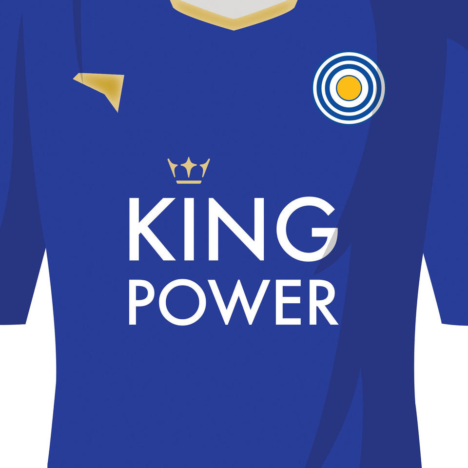 PERSONALISED Leicester Football Team Print