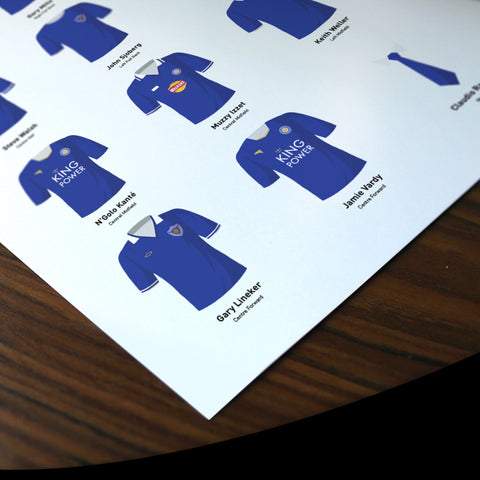 PERSONALISED Leicester Football Team Print-Good Team On Paper