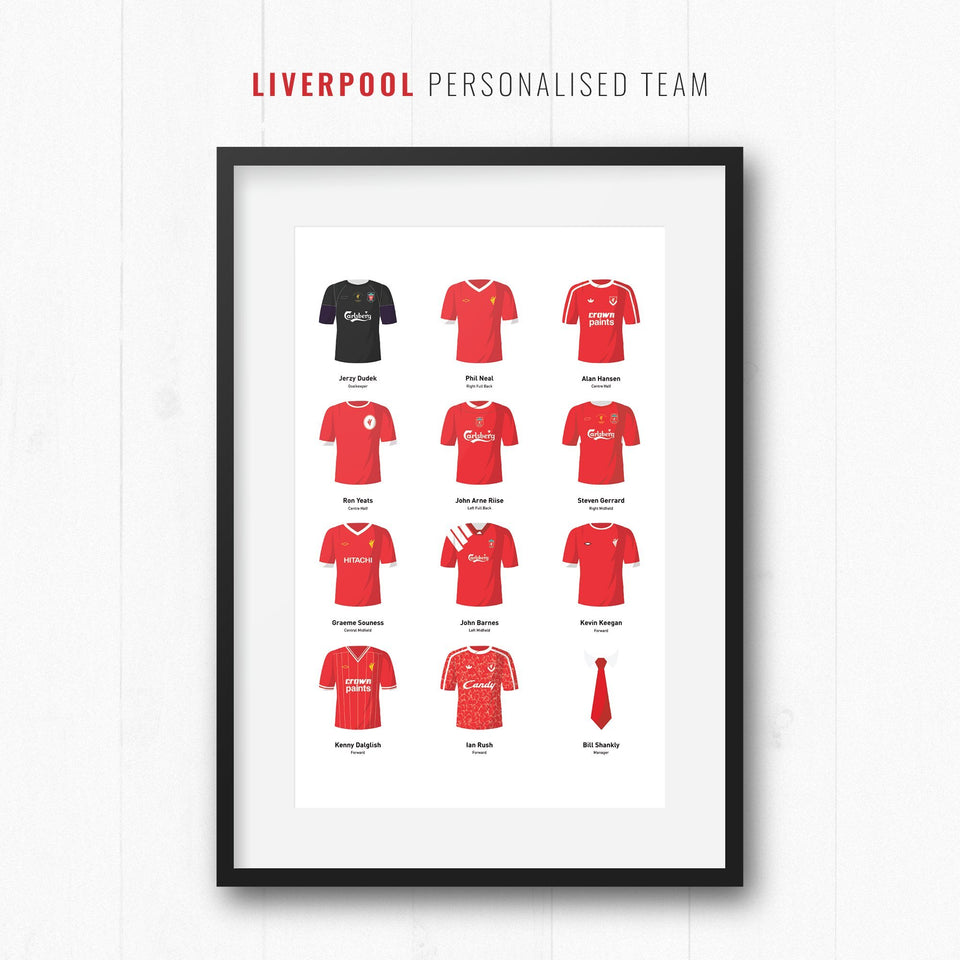 PERSONALISED Liverpool Football Team Print - Good Team On Paper