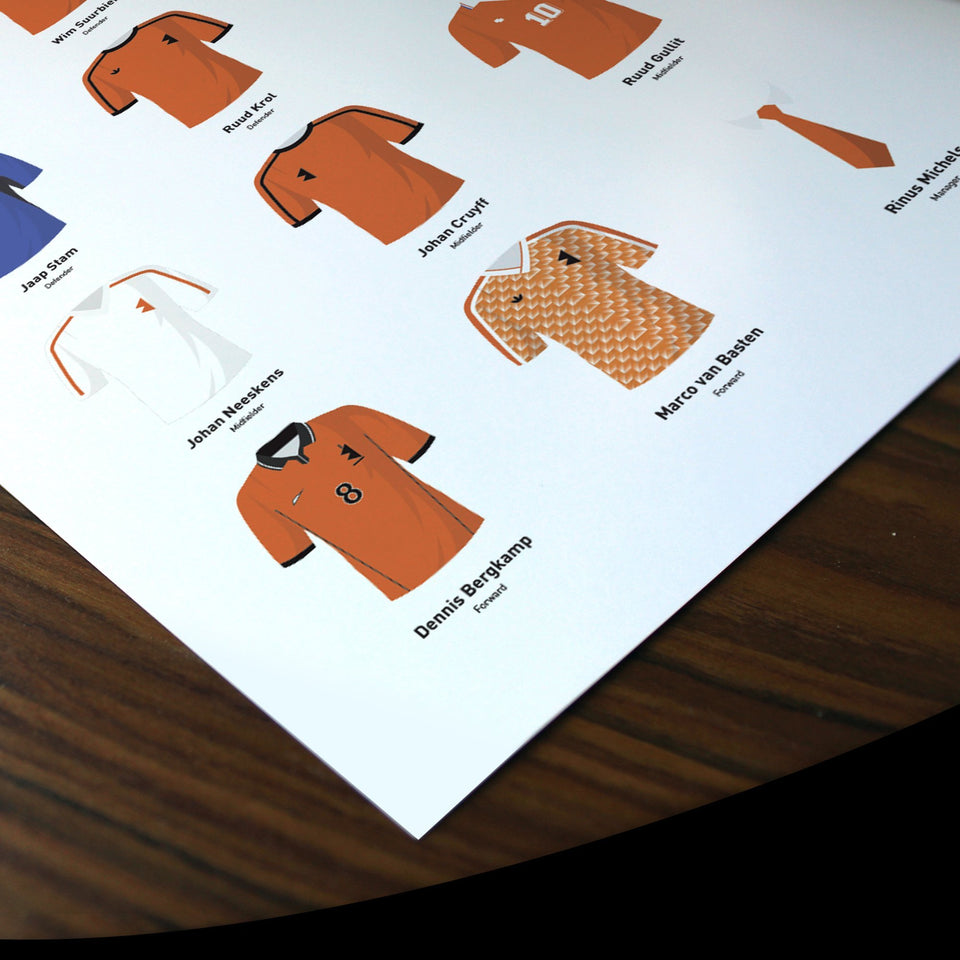 PERSONALISED Netherlands Football Team Print - Good Team On Paper