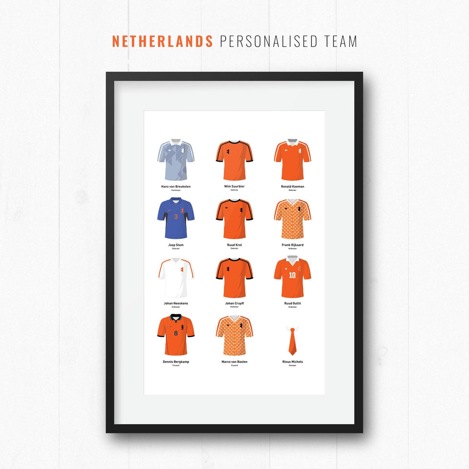 PERSONALISED Netherlands Football Team Print