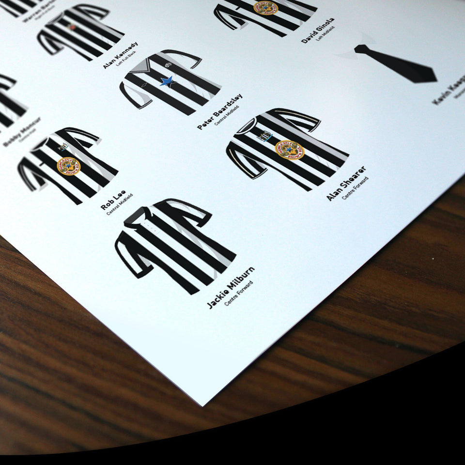 PERSONALISED Newcastle Football Team Print