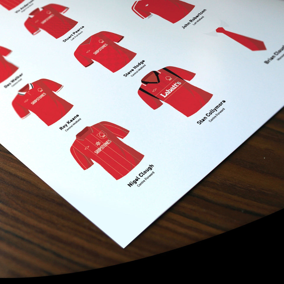 PERSONALISED Nottm Forest Football Team Print