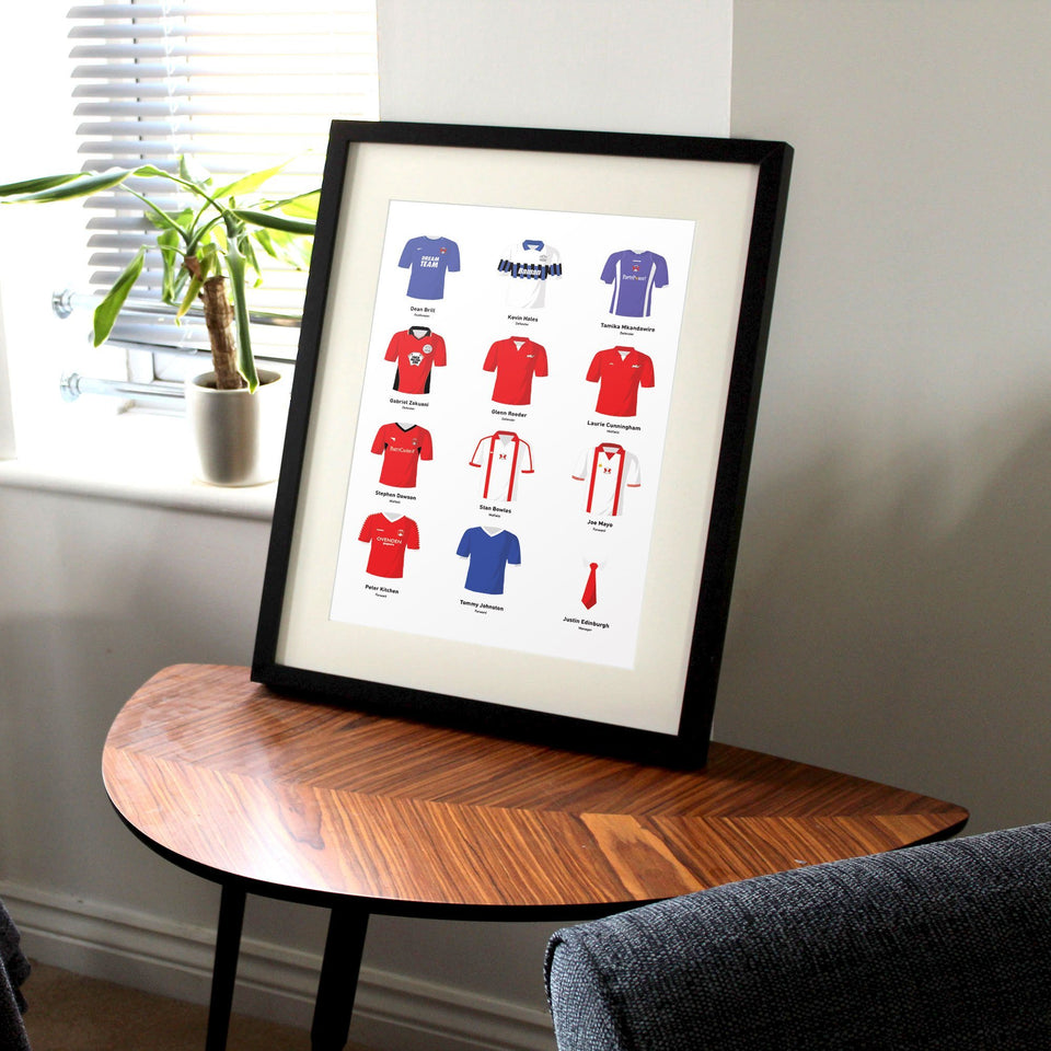PERSONALISED Orient Football Team Print - Good Team On Paper