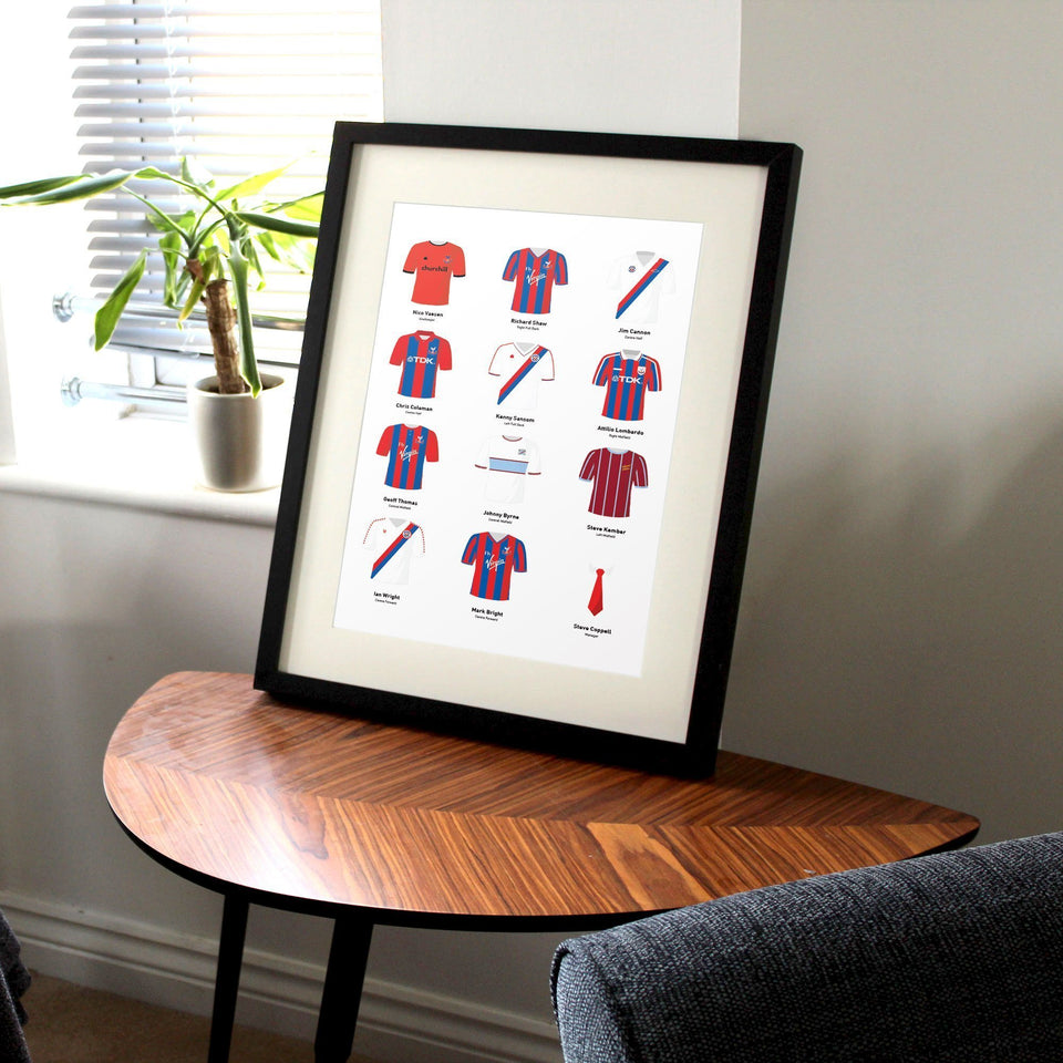 PERSONALISED Palace Football Team Print