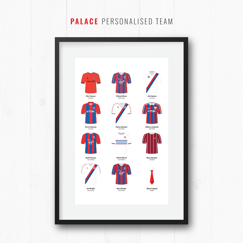 PERSONALISED Palace Football Team Print-Good Team On Paper