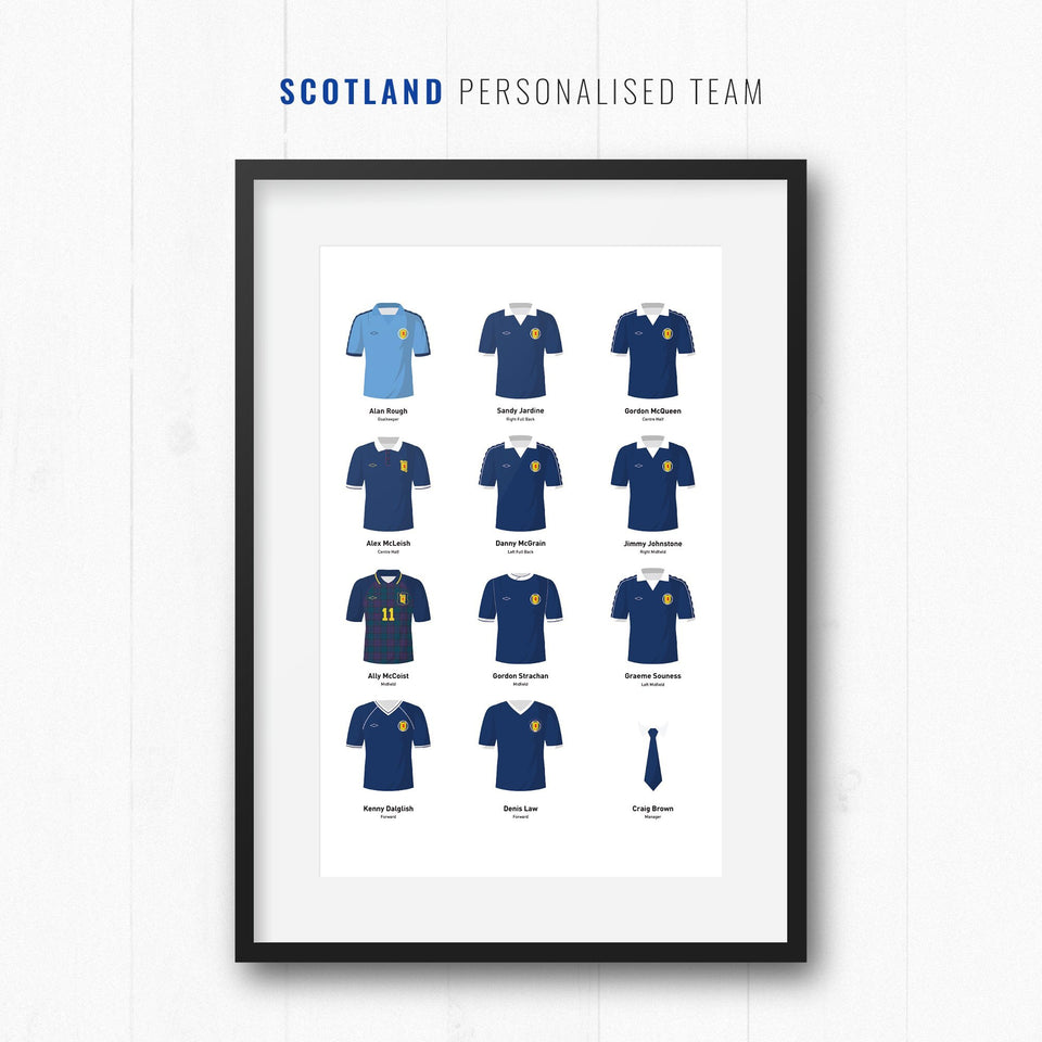 PERSONALISED Scotland Football Team Print - Good Team On Paper
