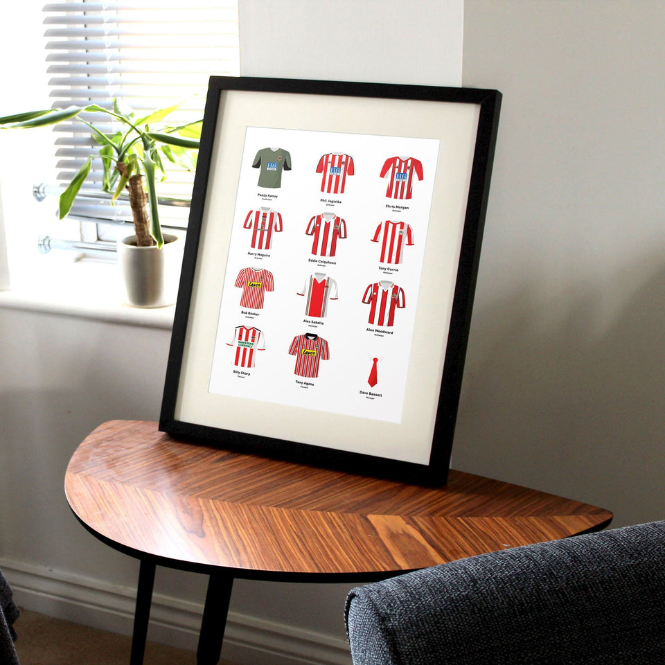 PERSONALISED Sheff Utd Football Team Print - Good Team On Paper