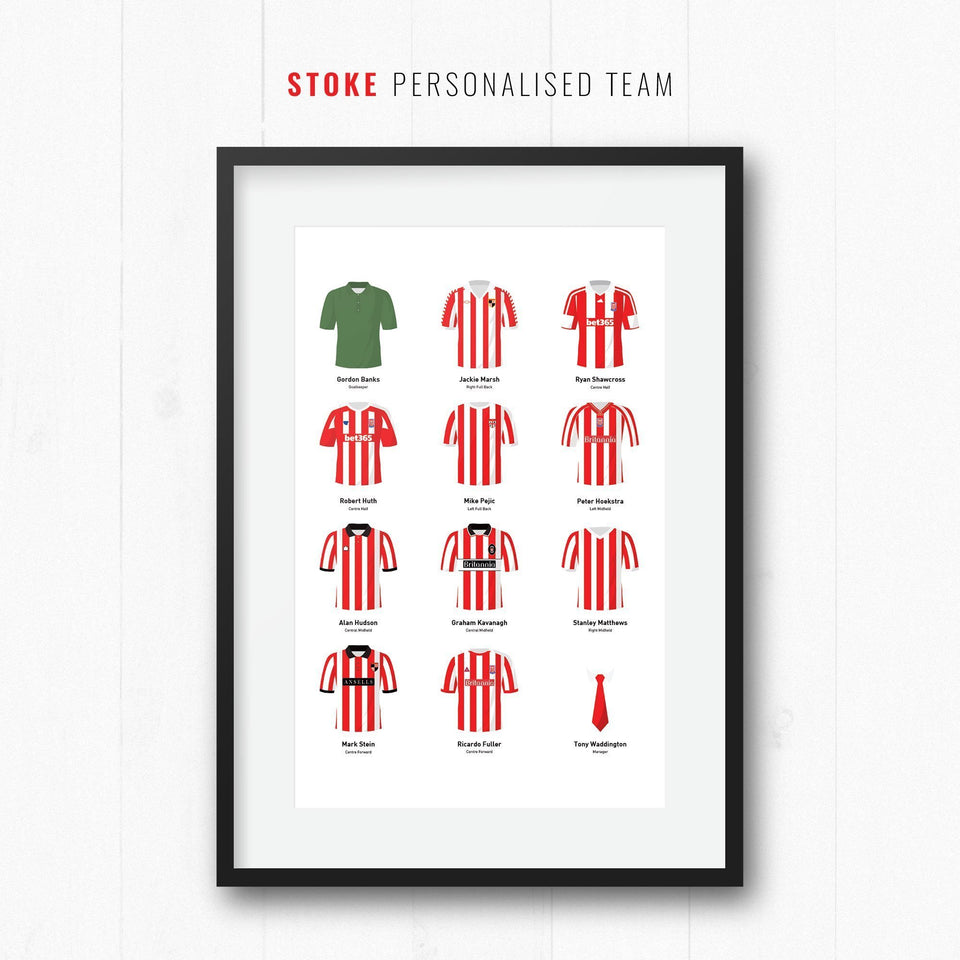PERSONALISED Stoke Football Team Print
