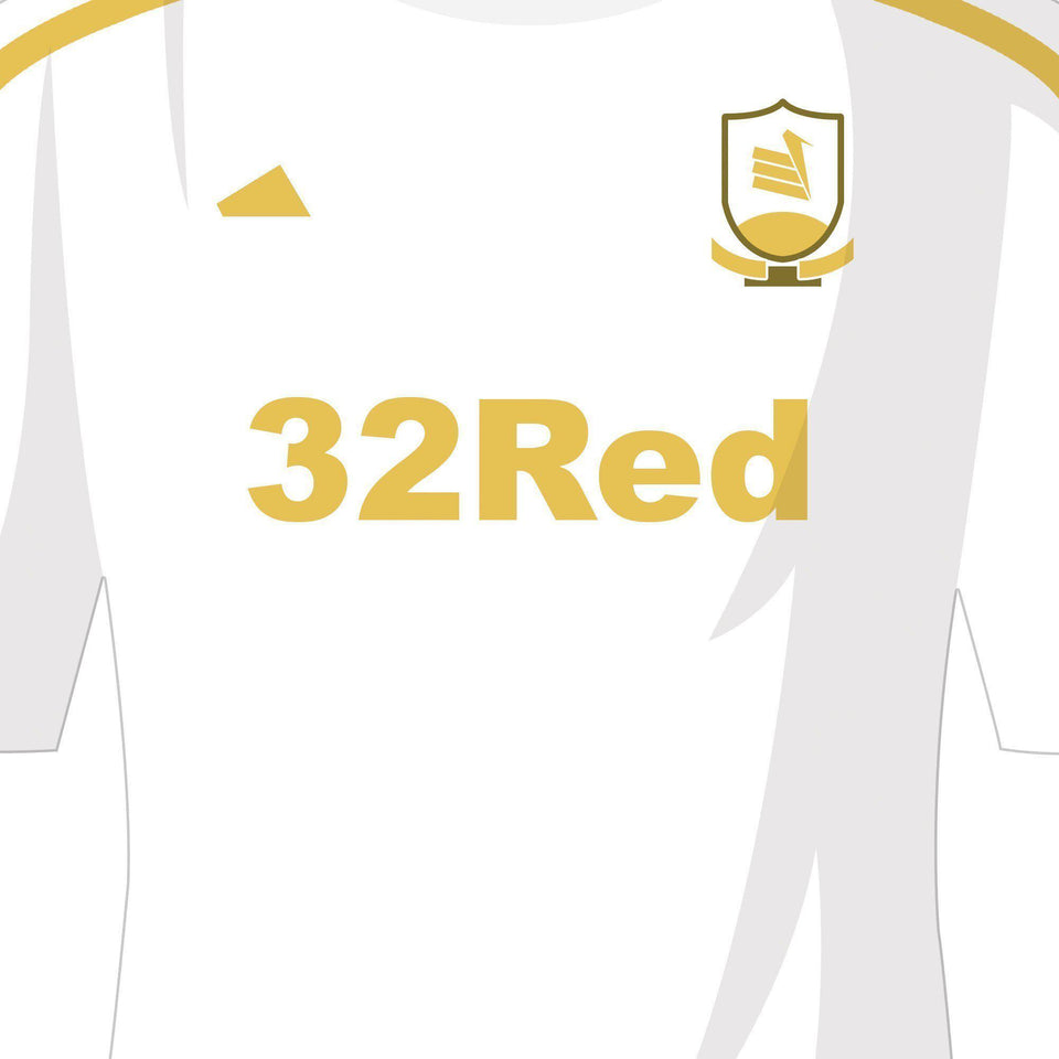 PERSONALISED Swansea Football Team Print-Good Team On Paper
