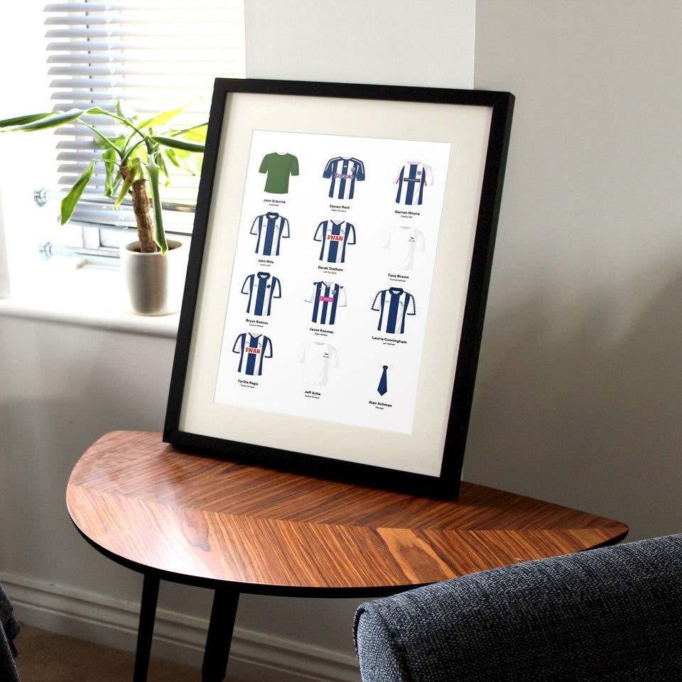 PERSONALISED West Brom Football Team Print
