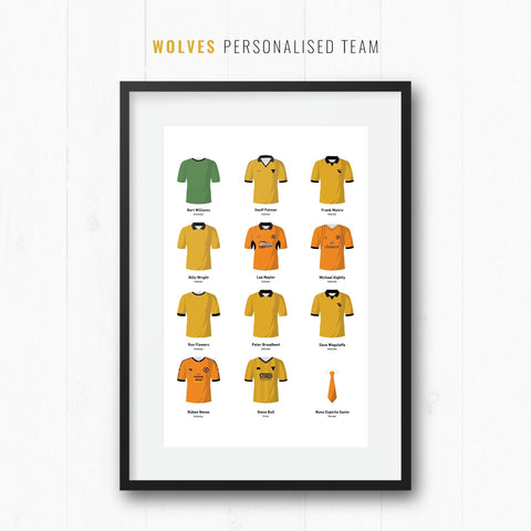 PERSONALISED Wolves Football Team Print-Good Team On Paper