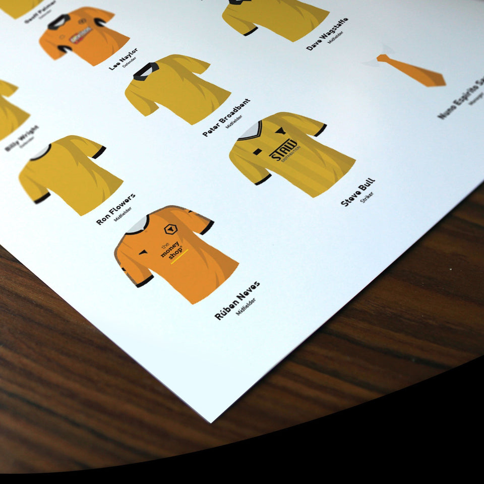 PERSONALISED Wolves Football Team Print - Good Team On Paper
