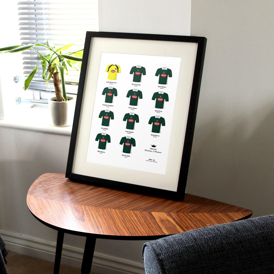 Plymouth 2004 Division 2 Winners Football Team Print-Good Team On Paper