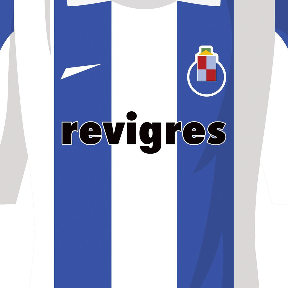 Porto 2004 Champions League Winners Football Team Print-Good Team On Paper