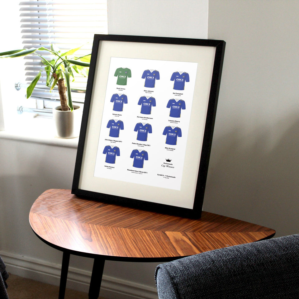 Portsmouth 2008 Cup Winners Football Team Print - Good Team On Paper