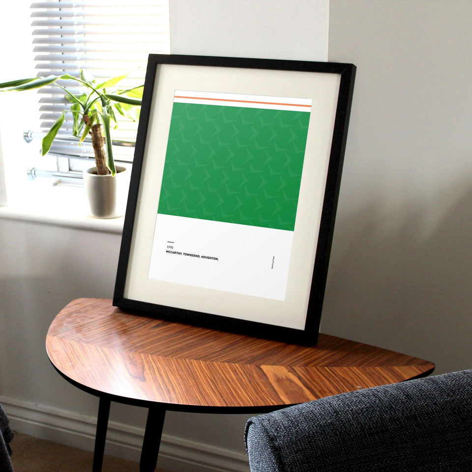 Republic of Ireland 1990 'Better Days' Football Print