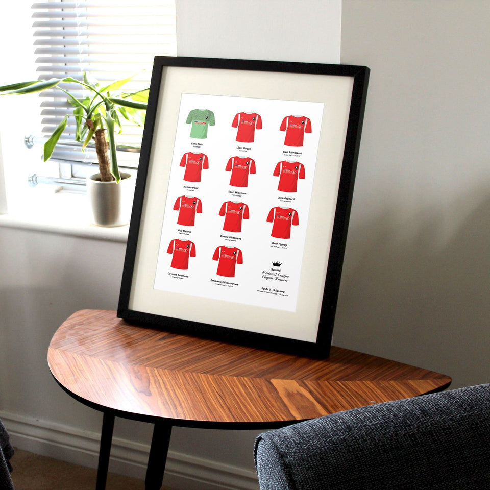 Salford 2019 National League Playoff Final Football Team Print - Good Team On Paper