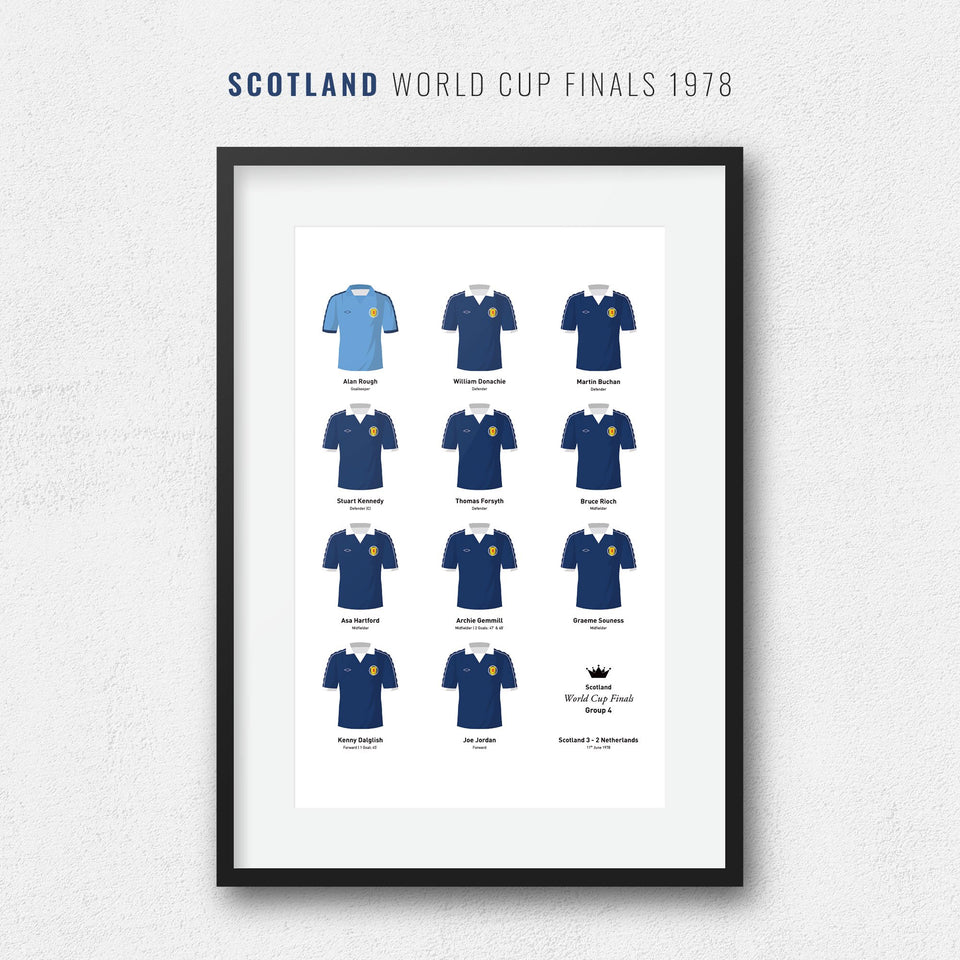 Scotland 1978 World Cup Finals Football Team Print - Good Team On Paper