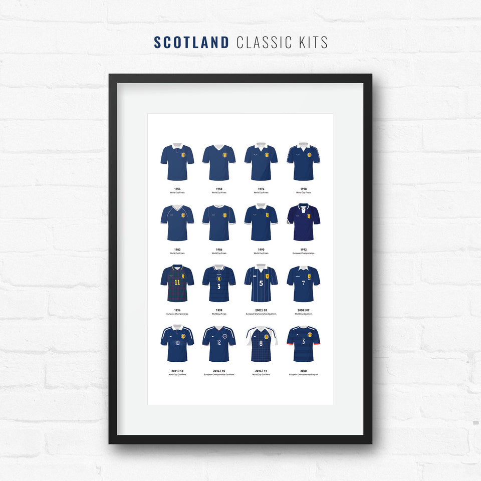 Scotland Classic Kits Football Team Print