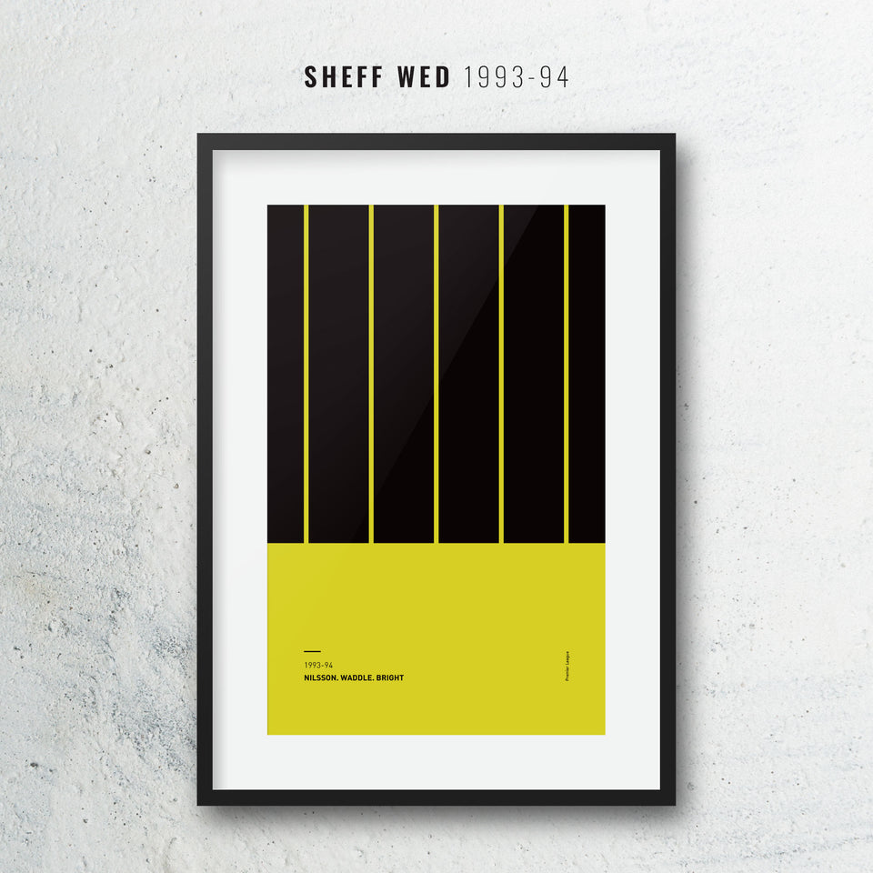 Sheff Wed 1993-94 Iconic Football Kit Pattern Print