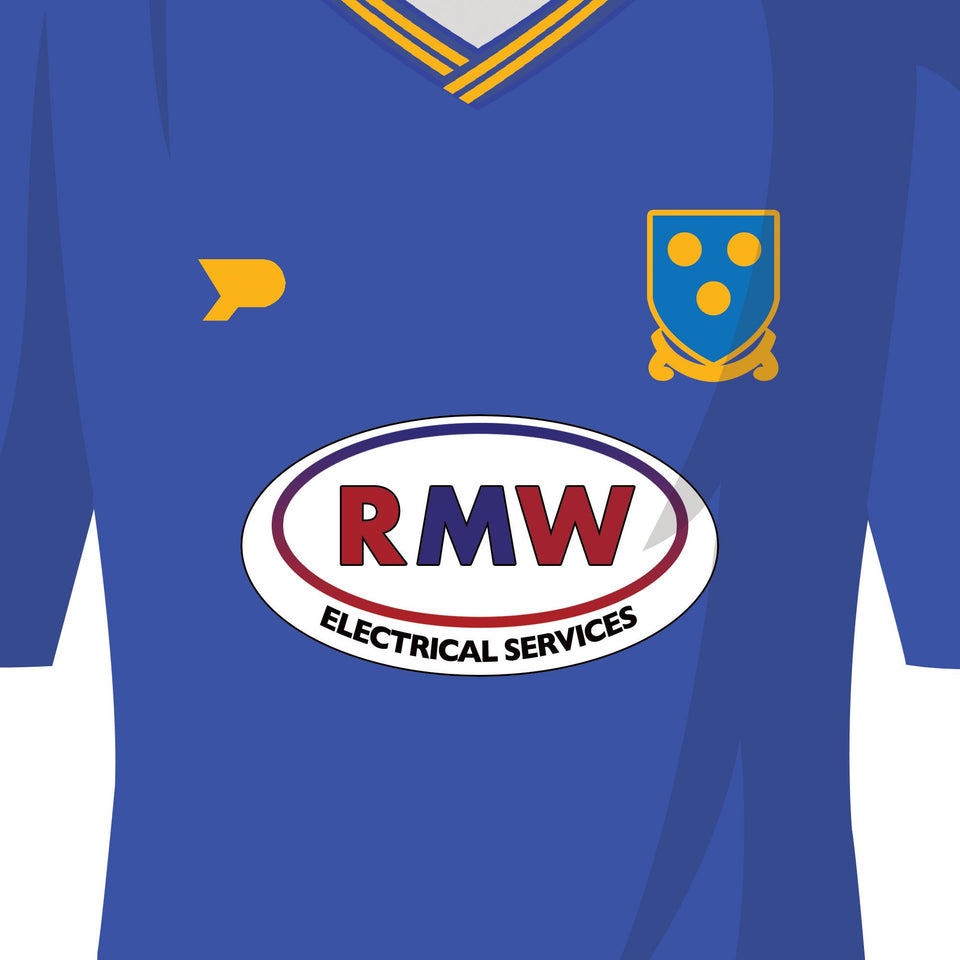 PERSONALISED Shrewsbury Football Team Print - Good Team On Paper