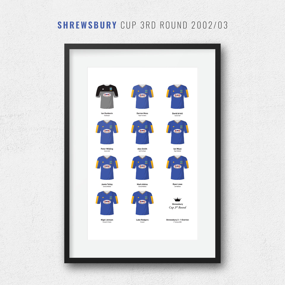 Shrewsbury 2003 Cup 3rd Round Football Team Print