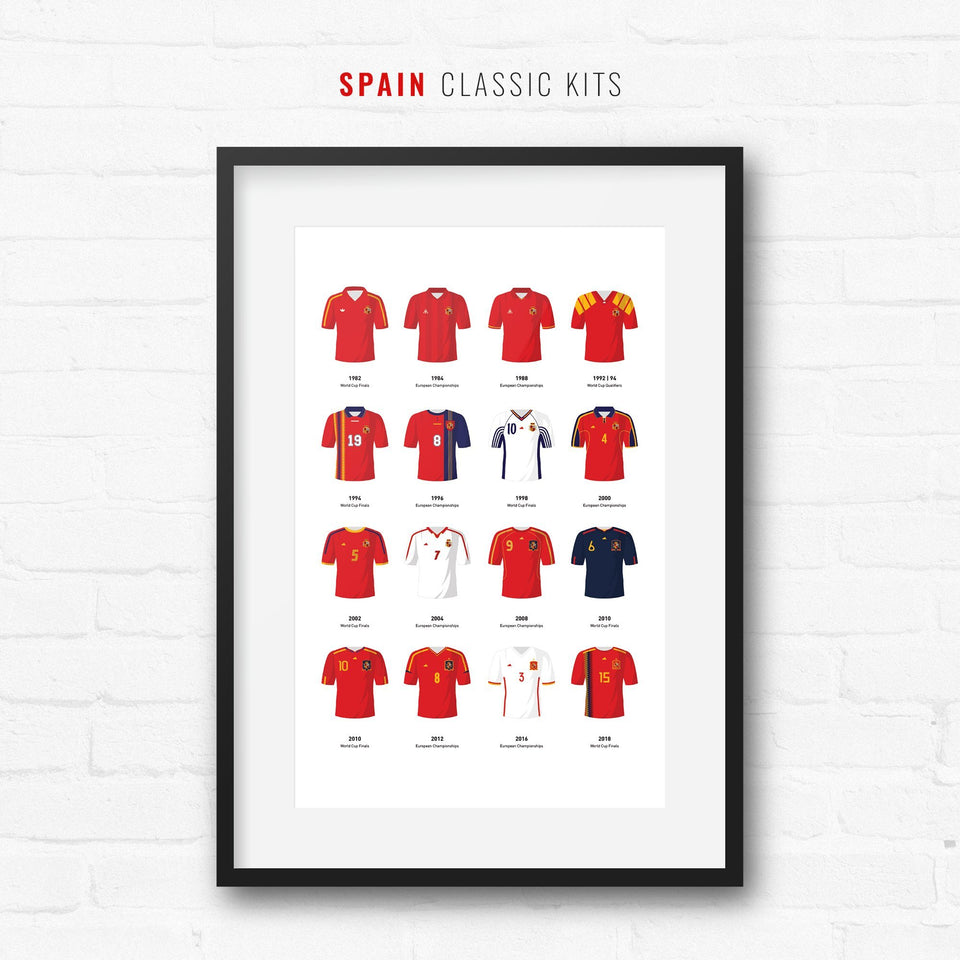 Spain Classic Kits Football Team Print