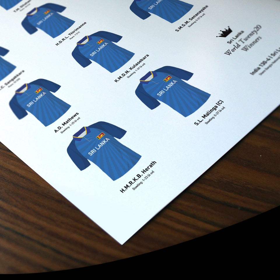 Sri Lanka Cricket 2014 World Twenty20 Winners Team Print