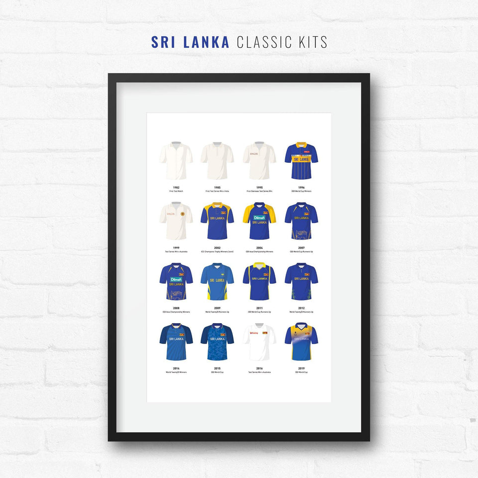 Sri Lanka Classic Kits Cricket Team Print