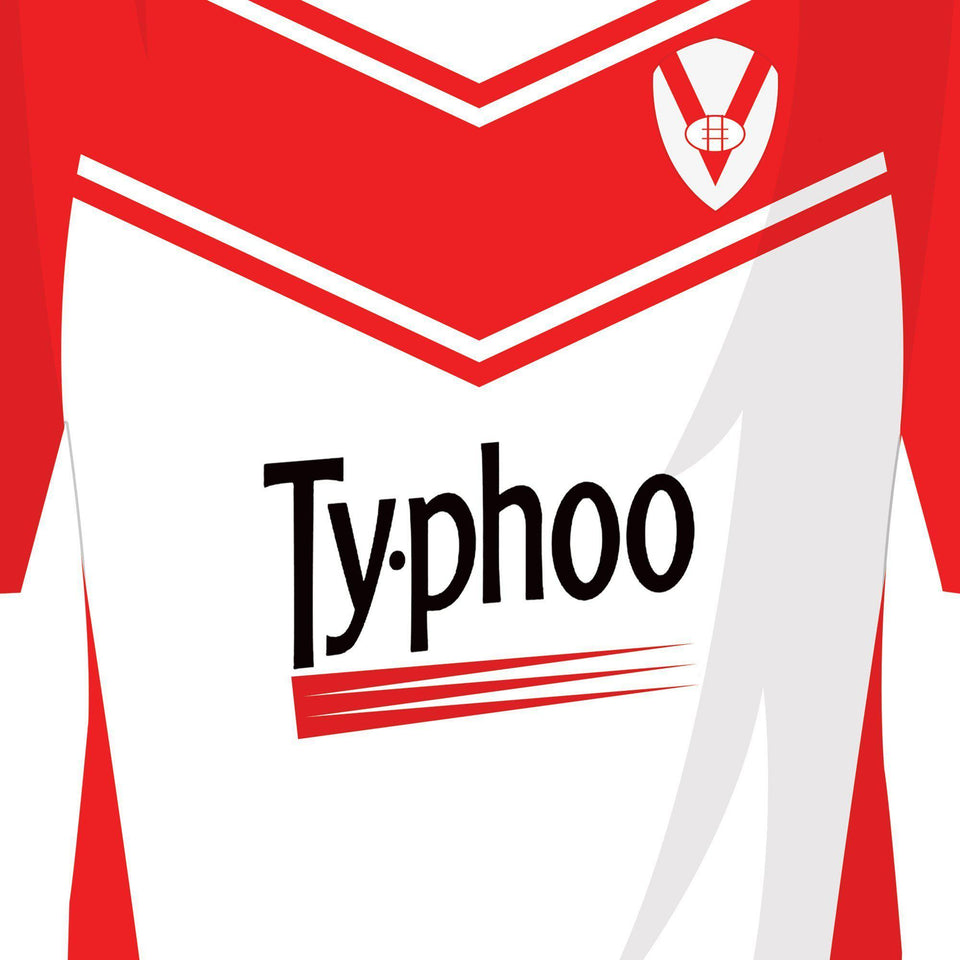 St Helens Classic Kits Rugby League Team Print - Good Team On Paper