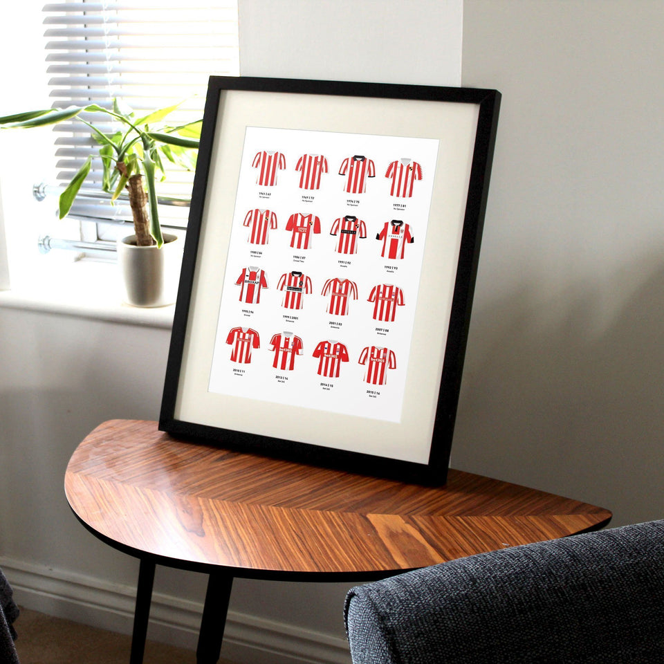 Stoke Classic Kits Football Team Print - Good Team On Paper