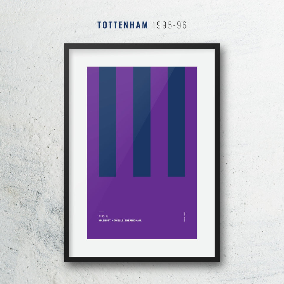 Tottenham 1995 Iconic Football Kit Pattern Print - Good Team On Paper