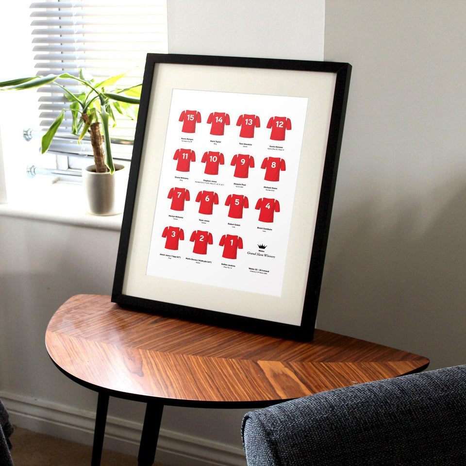 Wales Rugby Union 2005 Grand Slam Winners Team Print - Good Team On Paper