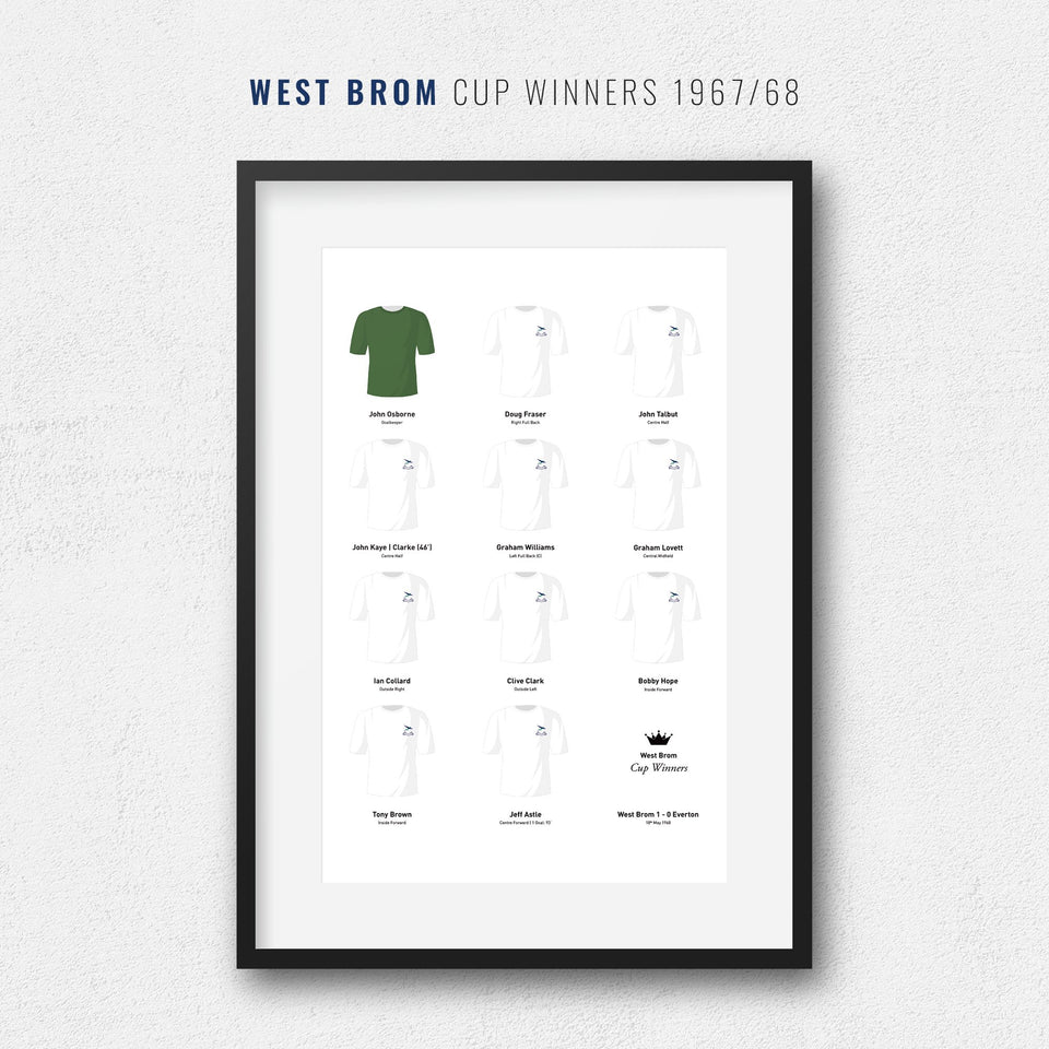 West Brom 1968 FA Cup Winners Football Team Print