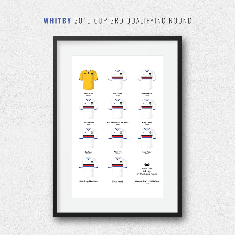 Whitby 2019 Cup 3rd Qualifying Round Team Print