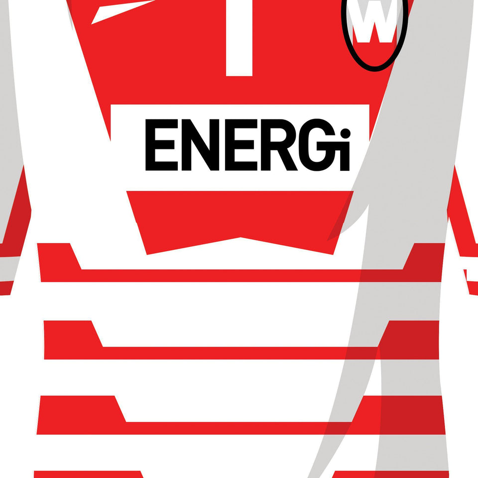 Wigan Classic Kits Rugby League Team Print - Good Team On Paper