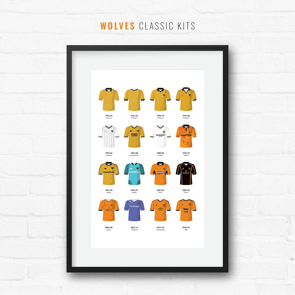 Wolves Classic Kits Football Team Print