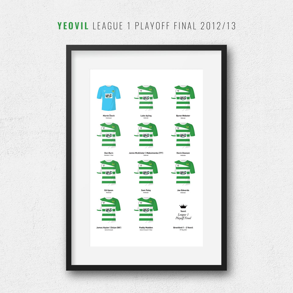 Yeovil 2013 League 1 Playoff Winners Football Team Print