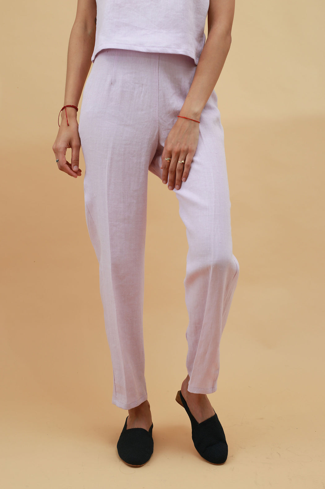 Amelie Slim Fit Trousers- Lavender